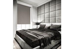 Black bedroom blinds
